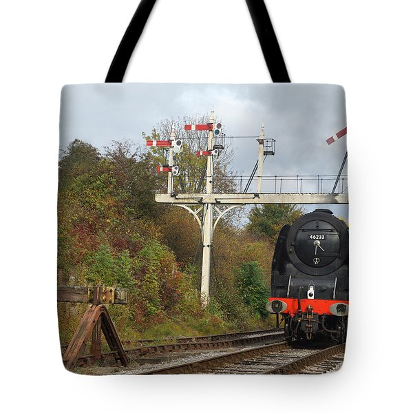 Tote Bag featuring the photograph Signaling The Change by David Birchall