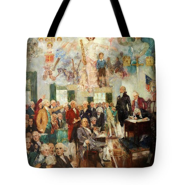 Signing Of The Constitution Tote Bag