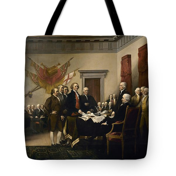 Signing The Declaration Of Independence Tote Bag by War Is Hell Store