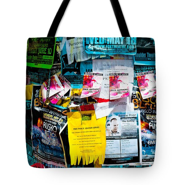 Signs Everywhere Signs Tote Bag by Colleen Coccia