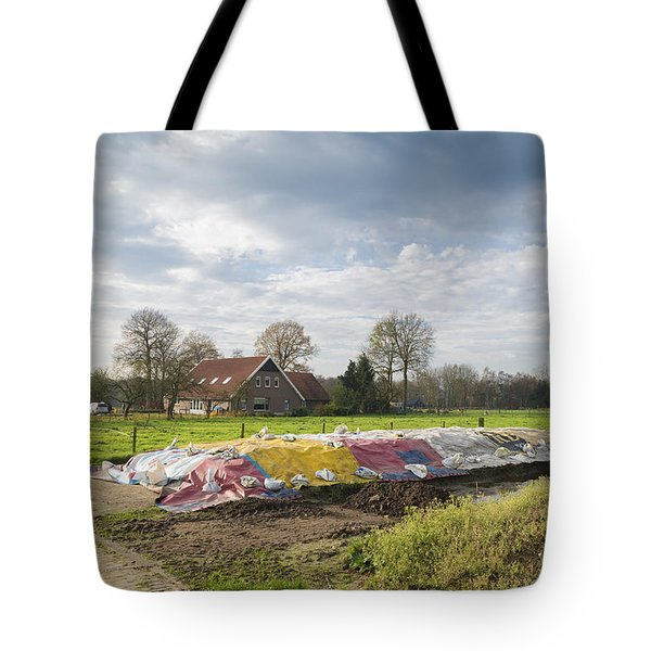 Tote Bag featuring the photograph Silage Food by Hans Engbers
