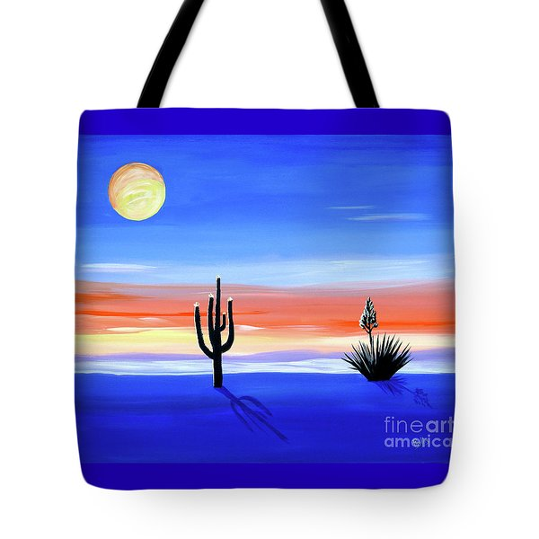 Tote Bag featuring the painting Silellnt Shadows by Phyllis Kaltenbach