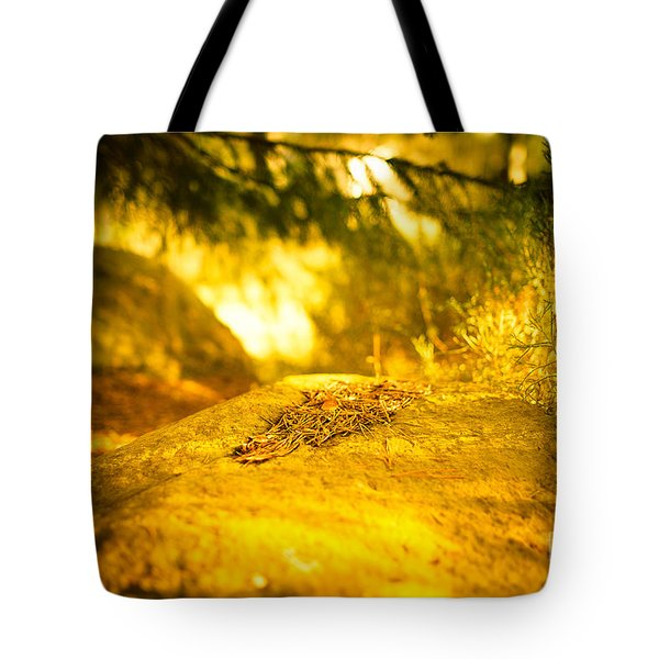Silence And Peace Under The Spruce Trees Tote Bag