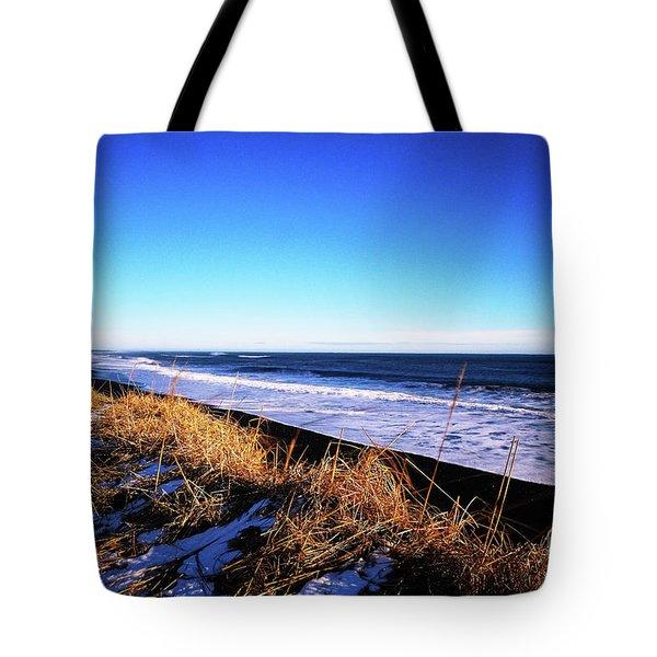 Silence At Black Sand Beach Tote Bag