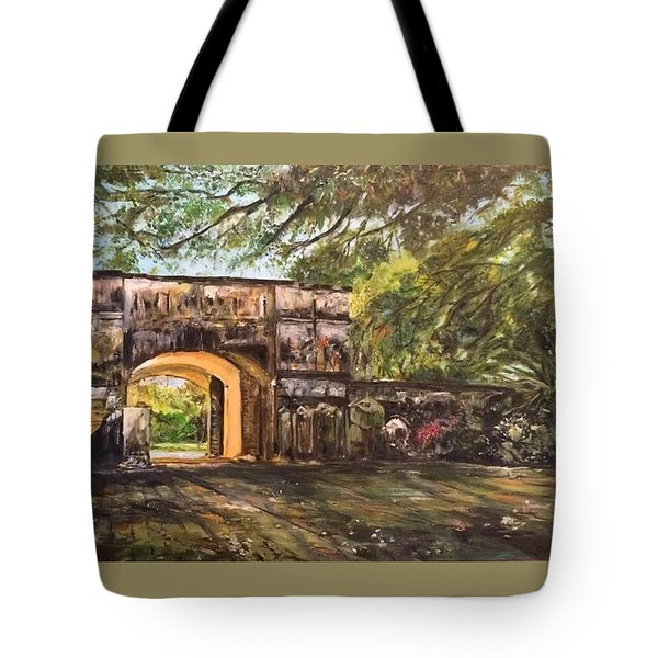 Tote Bag featuring the painting Silence Is Golden by Belinda Low
