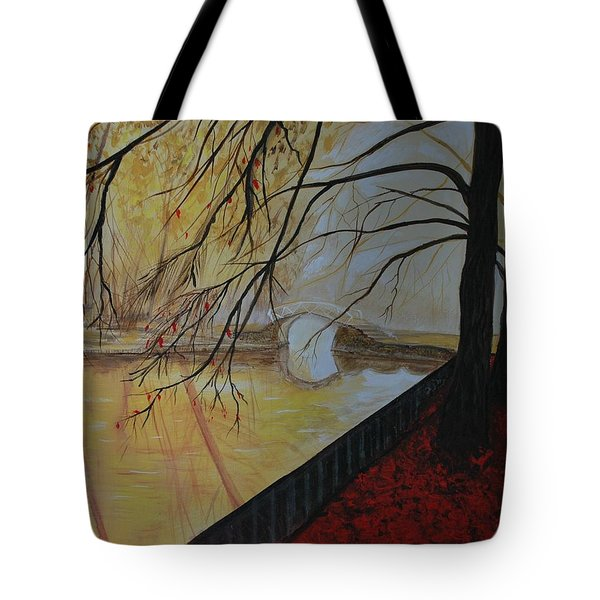 Tote Bag featuring the painting Silence by Leslie Allen
