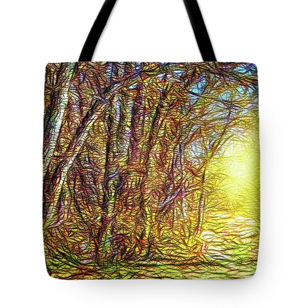 Silence Of A Forest Path Tote Bag