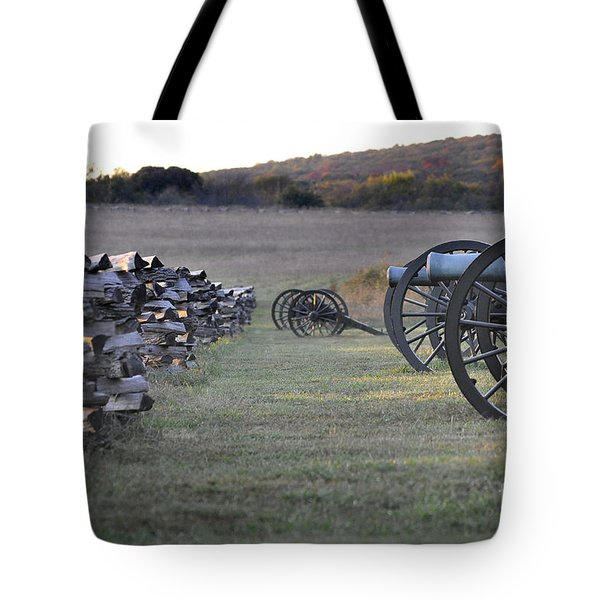 Tote Bag featuring the photograph Silent Battlefield by Nava Thompson