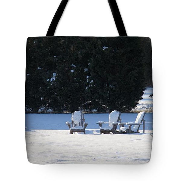 Silent Conversation Tote Bag