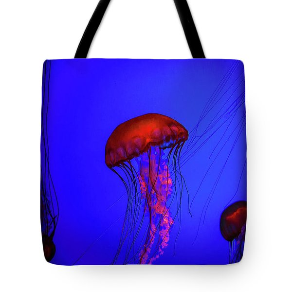 Tote Bag featuring the photograph Silent Jellies by Jeff Folger