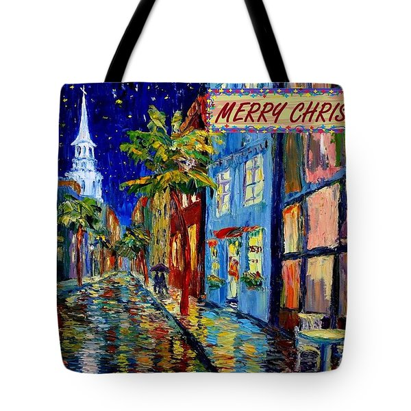 Silent Night Christmas Card Tote Bag by Dorothy Allston Rogers