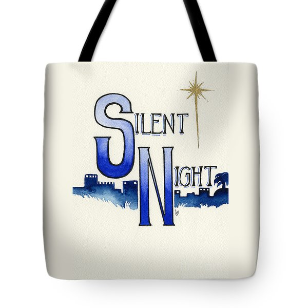 Silent Night Tote Bag by Cindy Garber Iverson