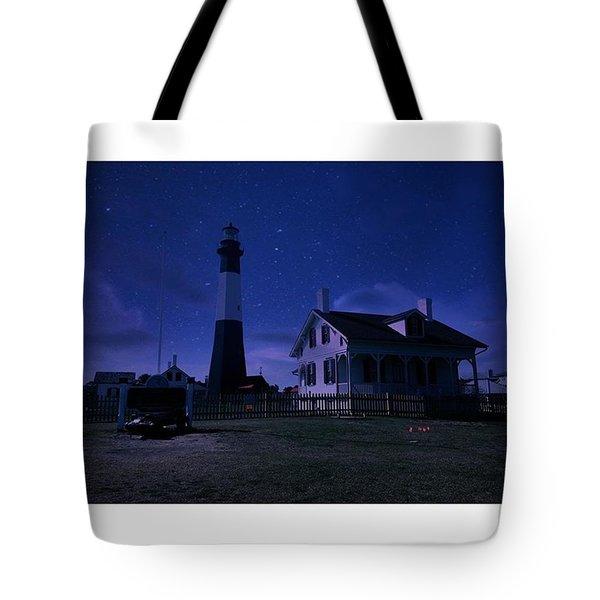 Silent Nights On Tybee Island Tote Bag