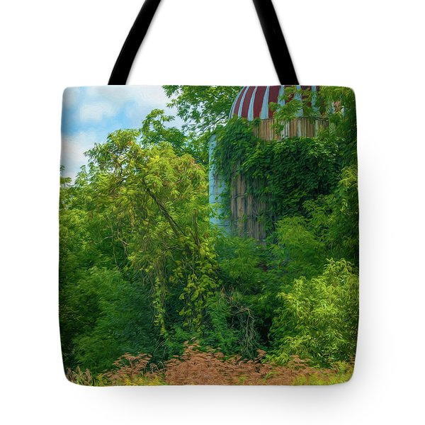 Silent Silo On Nottleson Road Tote Bag by Trey Foerster