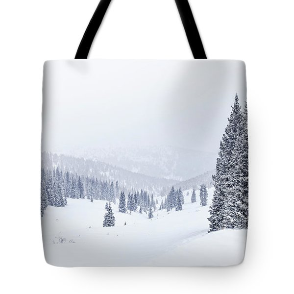 Silent Snow Tote Bag