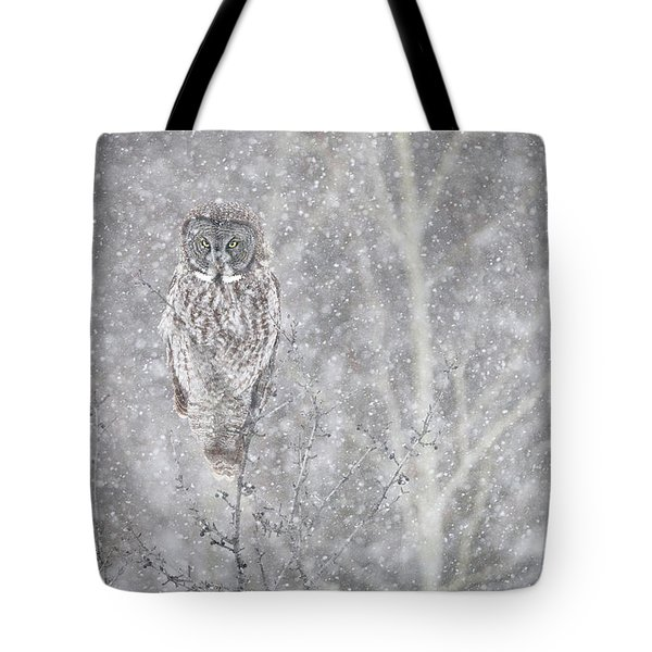 Tote Bag featuring the photograph Silent Snowfall Landscape by Everet Regal