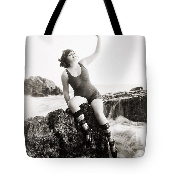 Silent Still: Bather Tote Bag by Granger
