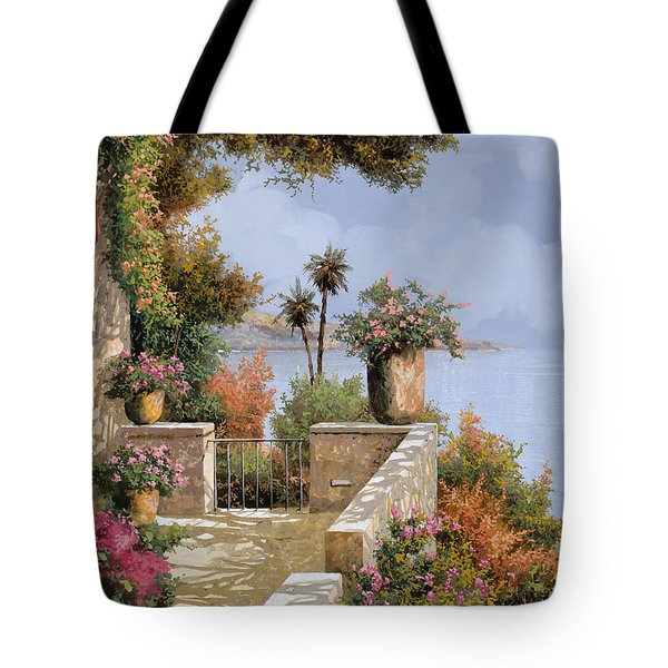 Tote Bag featuring the painting Silenzio by Guido Borelli
