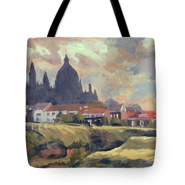 Silhouet Saint Lambertus Church Maastricht Tote Bag