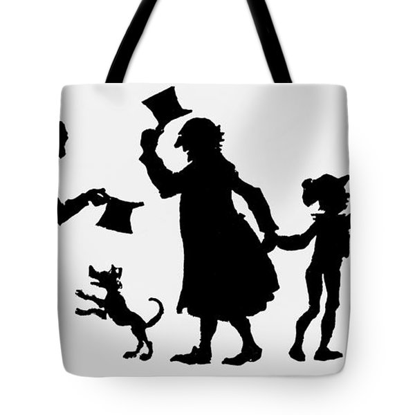 Silhouette Illustration From A Christmas Carol By Charles Dickens Tote Bag by English School