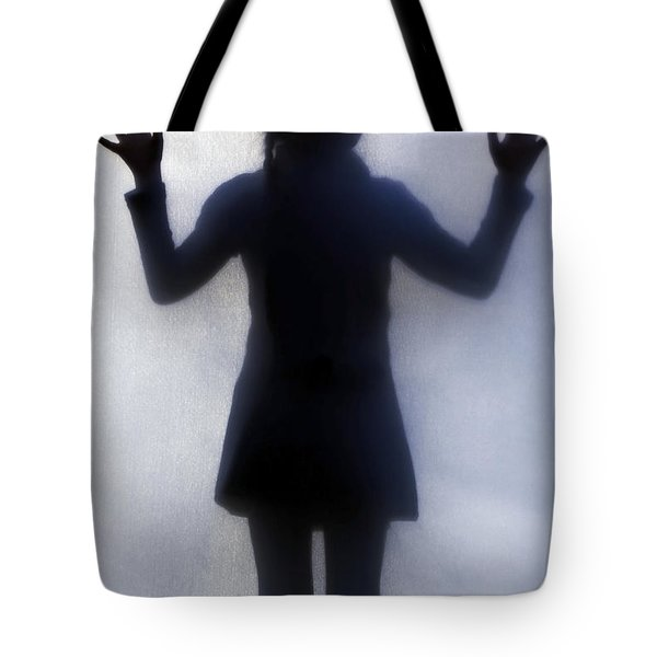 Silhouette Of A Girl Tote Bag by Joana Kruse