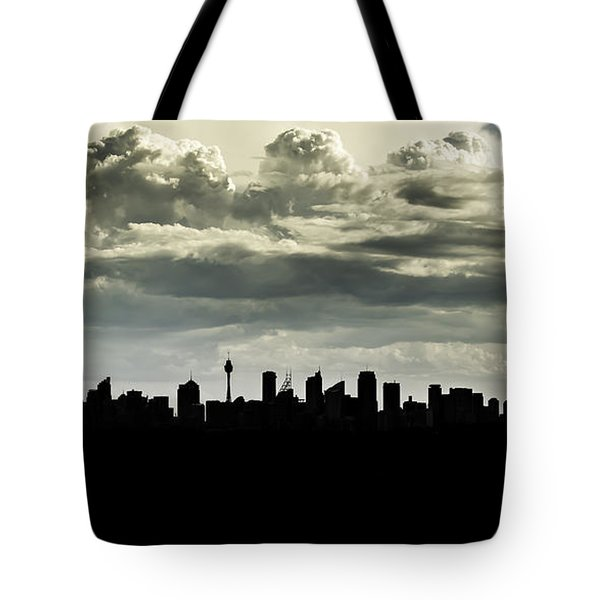 Silhouette Of Sydney Tote Bag
