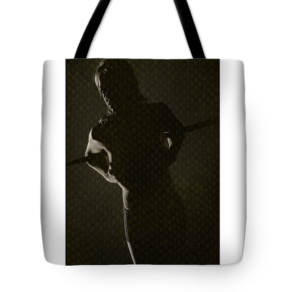 Silhouette Of Topless Girl Tote Bag