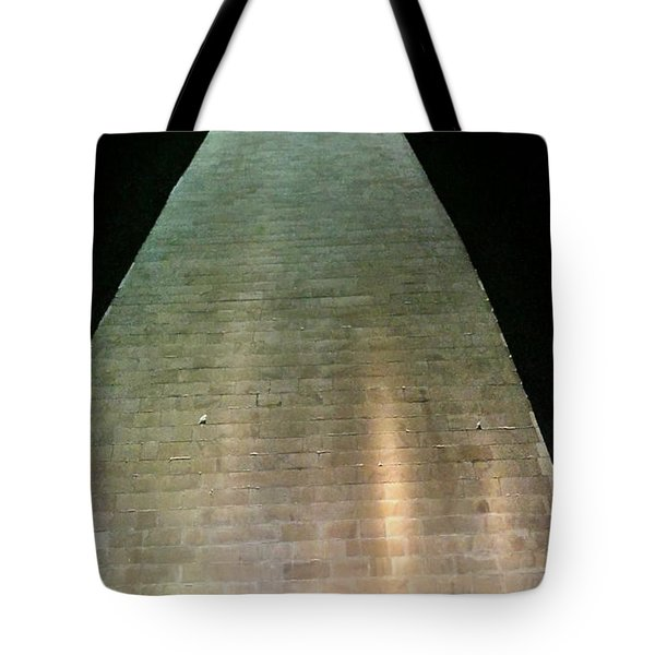 Silhouette Washington Memorial Tote Bag by Lorella Schoales