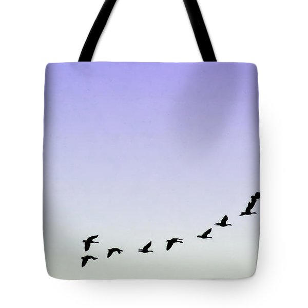 Silhouetted Flight Tote Bag