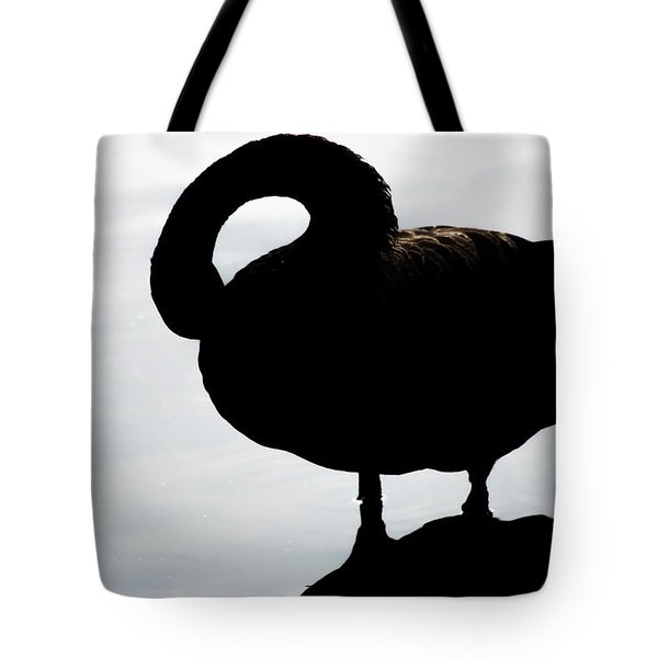 Silhouetted Swan Tote Bag