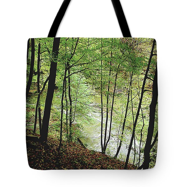 Silhouetted Trees Tote Bag