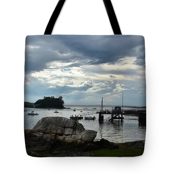 Silhouetted Views From Bustin's Island In Maine Tote Bag