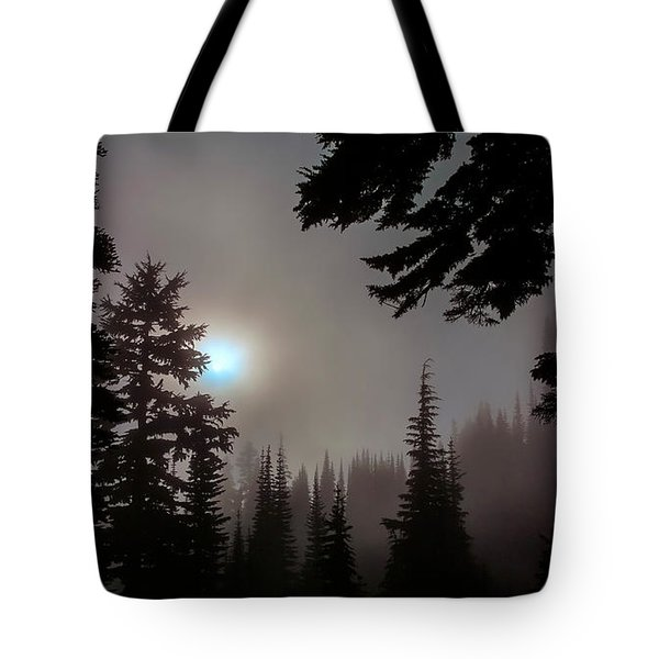 Silhouettes In The Mist 2008 Tote Bag