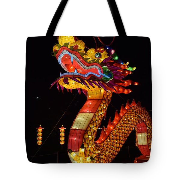 Silk Dragon Tote Bag