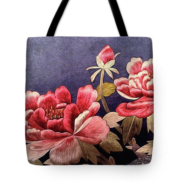 Silk Peonies - Kimono Series Tote Bag
