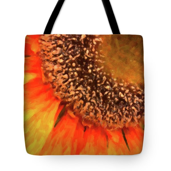 Tote Bag featuring the photograph Silk Sunflower by SR Green