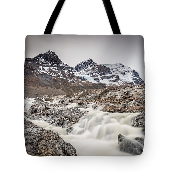 Silky Melt Water Of Athabasca Glacier Tote Bag by Pierre Leclerc Photography