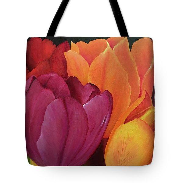 Silky Tulips Unite  Tote Bag