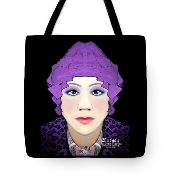 Silly Headdress Tote Bag by Barbara Tristan
