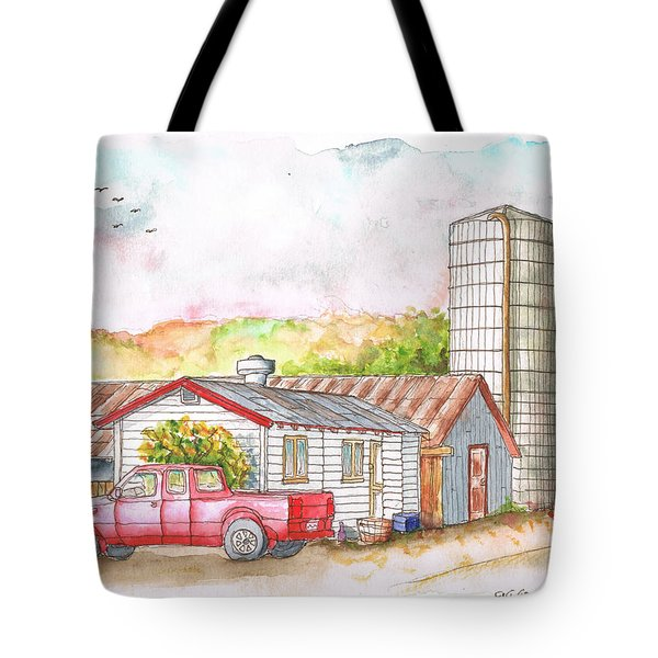 Silo In Los Olivos, California Tote Bag