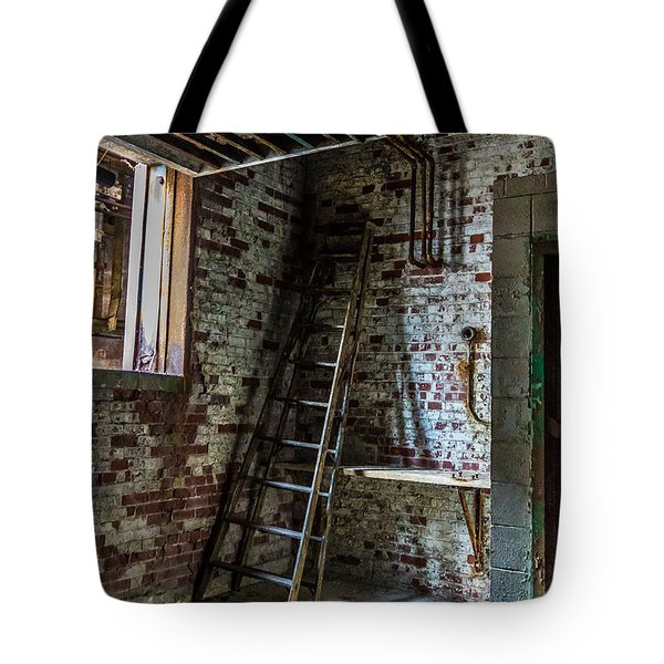 Silo Ladder Tote Bag by Darleen Stry