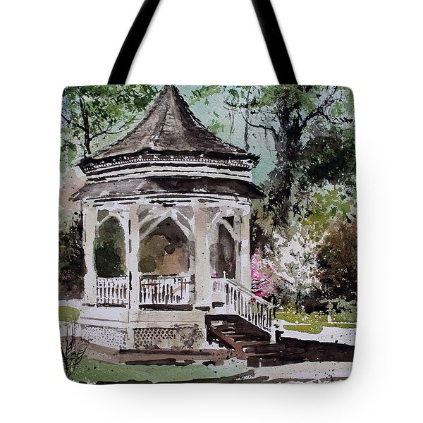 Siloam Springs Park Tote Bag by Monte Toon