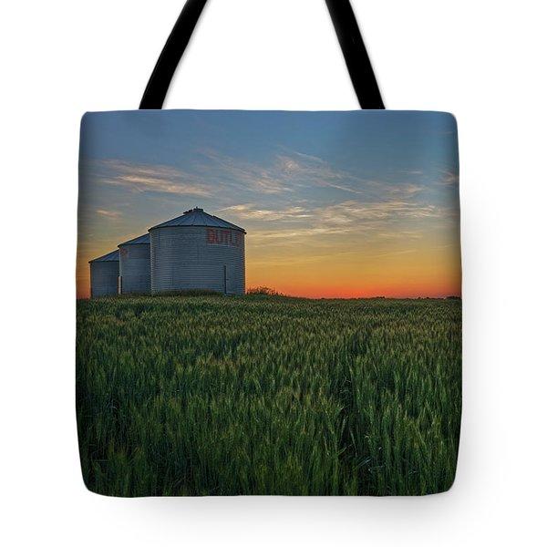 Silos At Sunset Tote Bag
