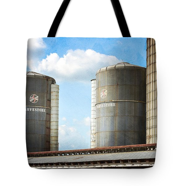Tote Bag featuring the photograph Silos by Todd Blanchard