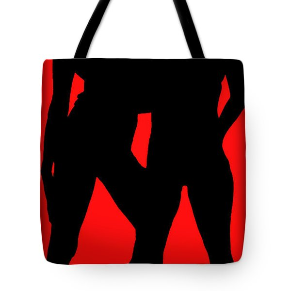 Tote Bag featuring the painting Siluettes by Tbone Oliver