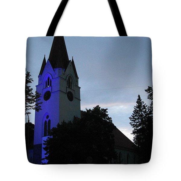 Silute Lutheran Evangelic Church Lithuania 01 Tote Bag by Ausra Huntington nee Paulauskaite