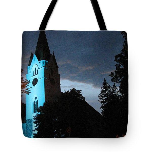 Tote Bag featuring the photograph Silute Lutheran Evangelic Church Lithuania by Ausra Huntington nee Paulauskaite