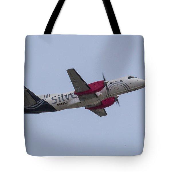 Silver Air Tote Bag
