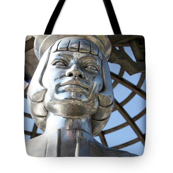 Silver Anna May Wong Tote Bag