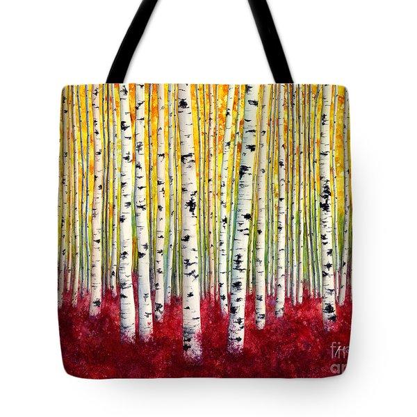 Silver Birches Tote Bag